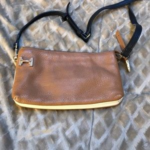Halston Heritage Crossbody Bag Tan/Black-Multi